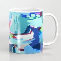 america Mugs featuring America by kristinesarleyart