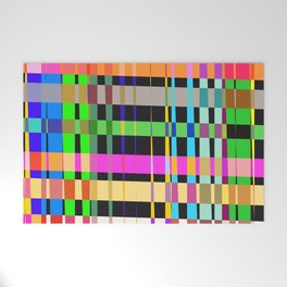 inclined coloured stripes Welcome Mat