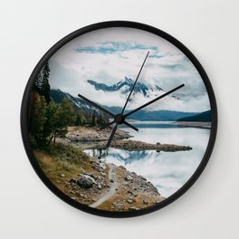 Medicine Lake - Jasper Wall Clock