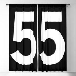 Number 5 (White & Black) Blackout Curtain