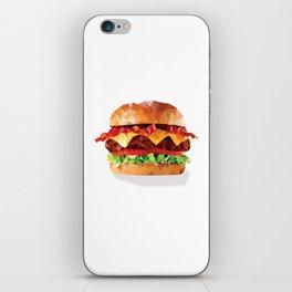 Geometric Bacon Cheeseburger iPhone Skin