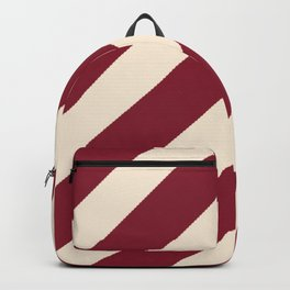 Antique White and Antique Ruby Diagonal Stripes Backpack