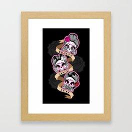 Wise Skulls Framed Art Print