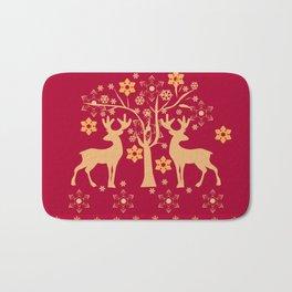 Christmas deer 3 Bath Mat