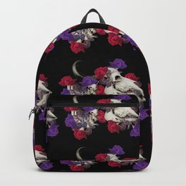 Buffalo Skull Pattern Backpack