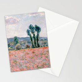 Poppy Field in Giverny by Claude Monet Stationery Cards