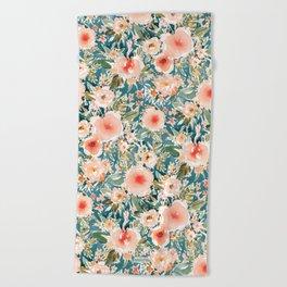 HIBISCUS NIGHTSWEATS Tropical Floral Beach Towel