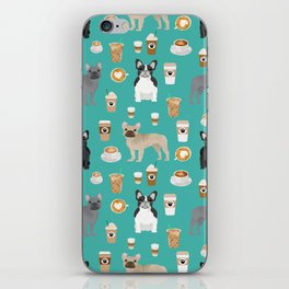 French Bulldog coffee pupuccino dog breed gifts frenchies must haves iPhone Skin