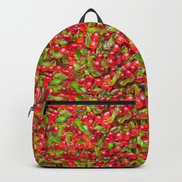 Yummy Gummy Cherries Candy Pattern Backpack