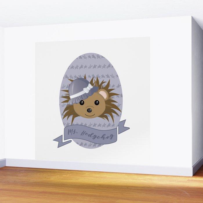 Ms. Hedgehog Wall Mural