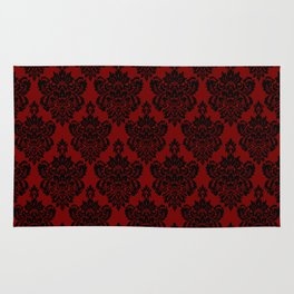 Crimson Damask Rug