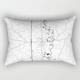 Amite Map Gray Rectangular Pillow
