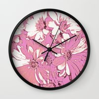 daisy Wall Clocks featuring Daisy  by Saundra Myles