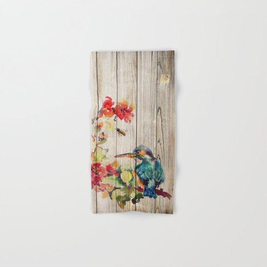 Spring on Wood 04 Hand & Bath Towel
