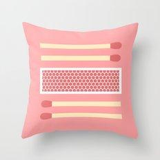 #75 Matches Throw Pillow
