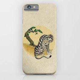 Tiger with magpie type-D : Minhwa-Korean traditional/folk art iPhone Case