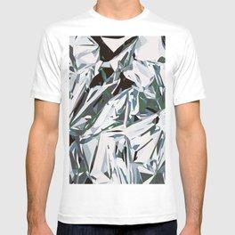 silver foil T-shirt