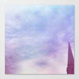 Steeple + Sky Canvas Print