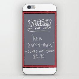 Burger of the Day, Bacon iPhone Skin