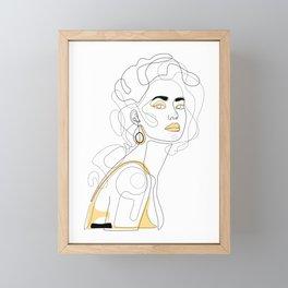 In Lemon Framed Mini Art Print
