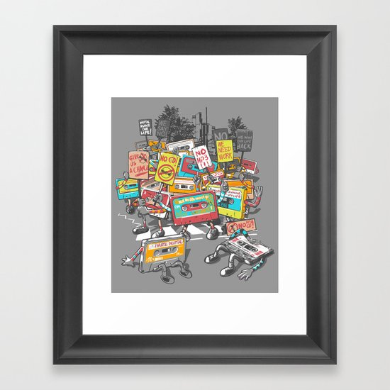 Digital Ruins Our Life Framed Art Print