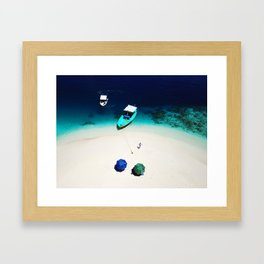 On the beach in Maldives Framed Art Print