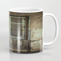 italian Mugs featuring Italian Door III by Maria Heyens