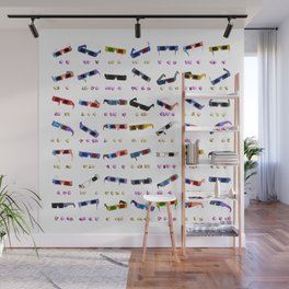 3D Movie Glasses pattern Wall Mural