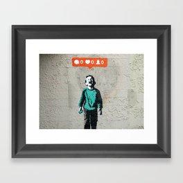 Banksy, social life, likes Framed Art Print