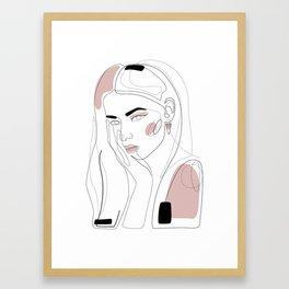 In Blush Framed Art Print