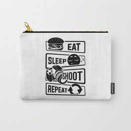 Eat Sleep Shoot Repeat - Camera Photography Photo Carry-All Pouch