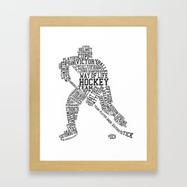 Hockey Words Framed Art Print