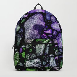 Purple and Green Stone Pattern  Backpack