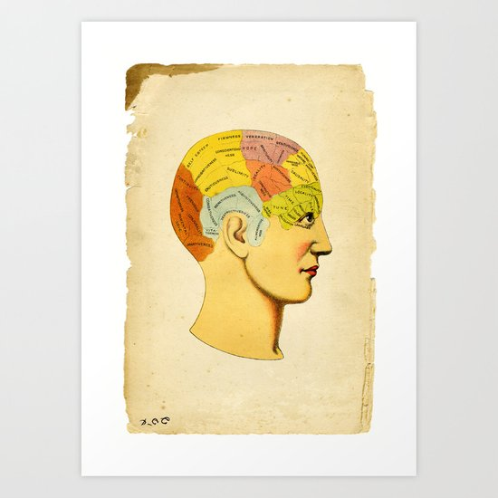 Phrenology Knowledge Within Art Print
