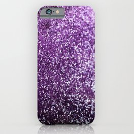Purple Glitter #1 #decor #art #society6 iPhone Case