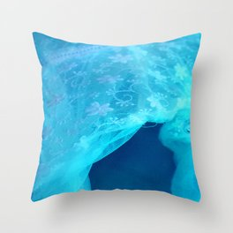 ghost in the swimming pool Throw Pillow