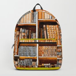 books background in watecolor style Backpack