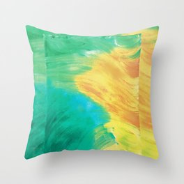 Currents and Flows Throw Pillow