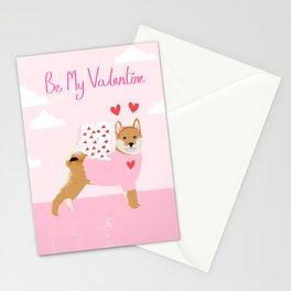 Shiba Inu dog love bug valentines day cute gift valentine dog breed pure breeds Stationery Cards