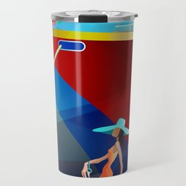 COUPLE AT A BOAT SHOW Travel Mug