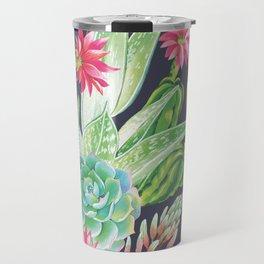 Succulents Flowers Plants Travel Mug