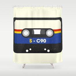 Black Cassette #2 Shower Curtain