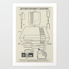 Entertainment System (light) Art Print