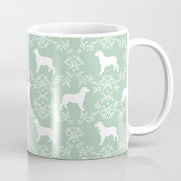 English Springer Spaniel dog breed mint floral pet portraits dog silhouette dog pattern Coffee Mug