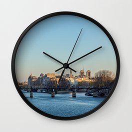 Pont des Arts and ile de la Cite Wall Clock