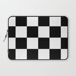 Large Checkered - White and Black Laptop Sleeve