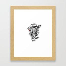 Joker:Why so serous? Framed Art Print