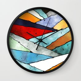 Angles of Textured Colors Wall Clock