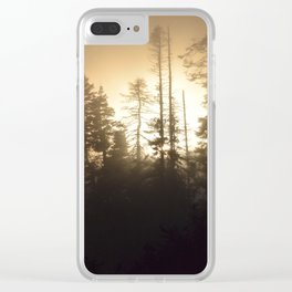 Fog through the trees Clear iPhone Case