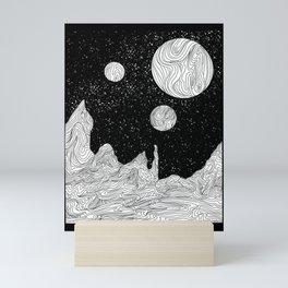 Somewhere in Space Mini Art Print